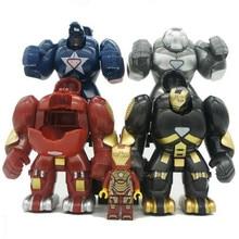 4 шт./лот Mr298 DC Marvel Super Heroes Железный человек с халкбастера модель строительные блоки просветить рисунок Совместимость с Legoings