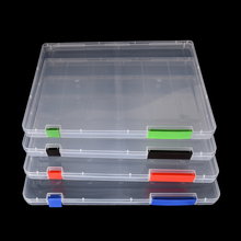 4 Colors A4 Transparent Storage Box Clear Plastic Document Paper Filling Case File PP Office Organizer Invisible Storage Cases