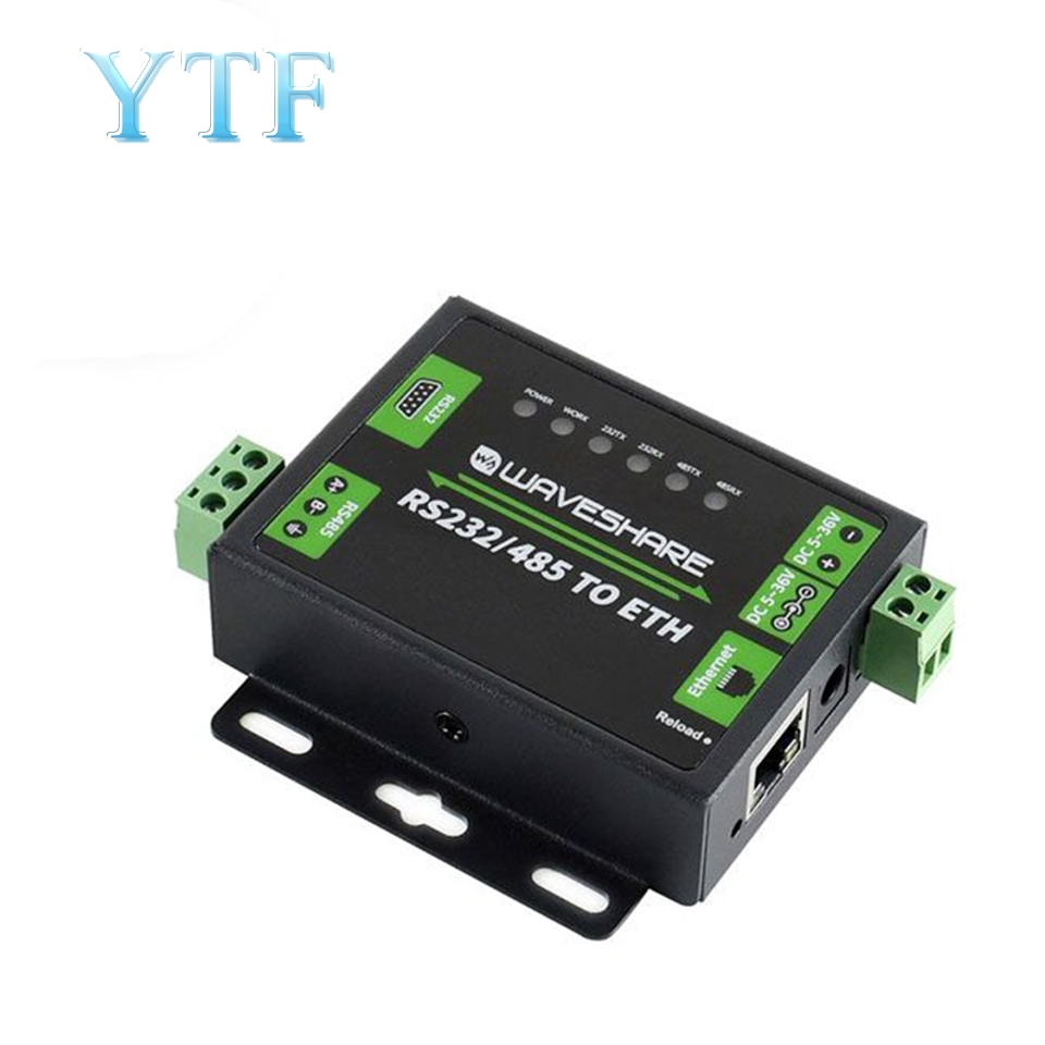 RS232/485 To Network Port Module RJ45 Dual Serial Port Ethernet Industrial Grade Two-way Transparent Transmission
