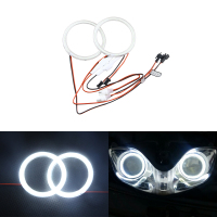 Angel Eyes Super Led Light Halo Ring Auto Car Headlights Motorcycle 75mm 2pcs 1 Pait White