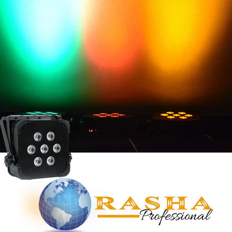 (Pack of 12)  Rasha Hex 6in1 RGBAW+UV Built in Wireless LED Flat Par Profile,LED Flat Slim Par Can,Disco DMX512 Stage Light 10 50 meters pack 1m per piece led aluminum profile slim 1m with milky diffuse or clear cover for led strips