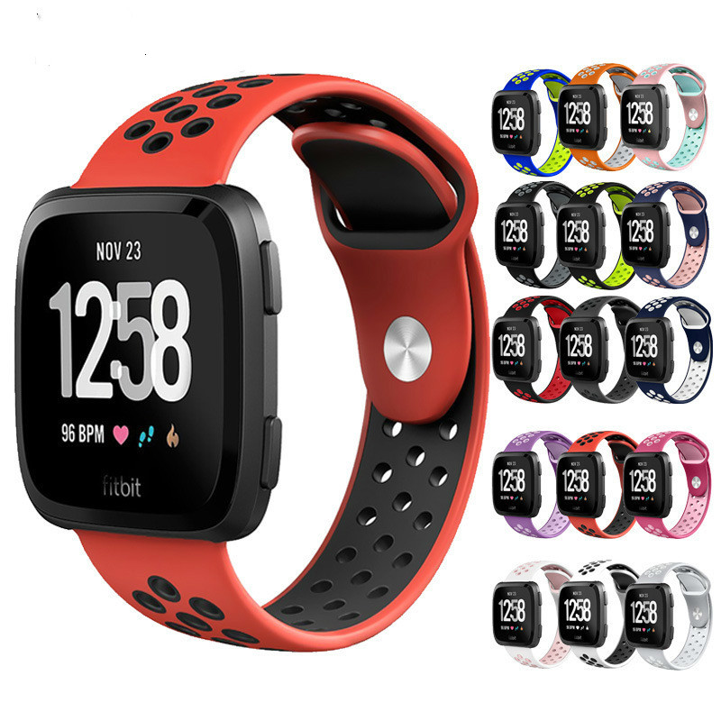 High Quality Rubber Sport Watch Band Strap Suit For Fitbit Versa Smart Bracelets Nike Double
