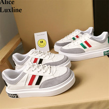 Low ladies lace-up casual shoes FASHION Thick soles muffin women shoes Summer students breathable white shoe Chaussure Femme AU