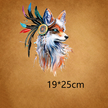 ZOTOONE Fashion Fox Patch Iron On Transfer Indian Patches For Girl Clothes DIY Dresses Stickers Heat Press Appliqued Decoration