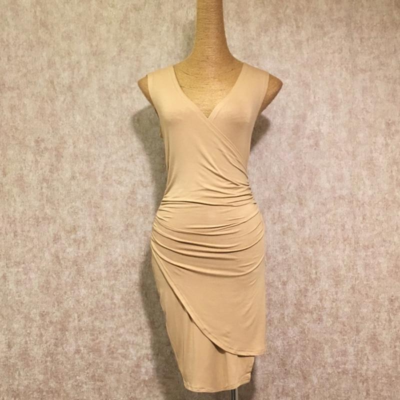 2018 New Latin Dance Dress Women Salsa Dance Dresses Nude Color Sexy Slim Adult Costume Tango Clothes Lady Practice Wear DN1163