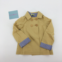 New arrival chất lượng tốt boutique của trẻ em quần áo cậu bé con bé màu be outerwear rãnh trẻ con trẻ áo