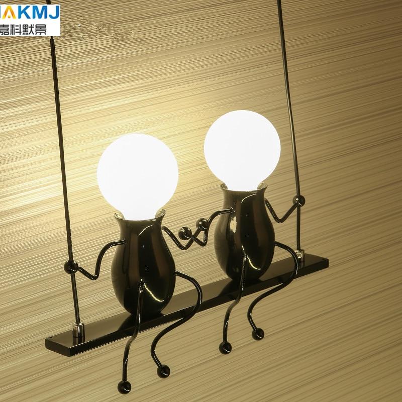 Простой Модный креативный Железный светодиодный настенный светильник в стиле ретро для спальни, прохода, мультяшный робот, бра, осветитель...