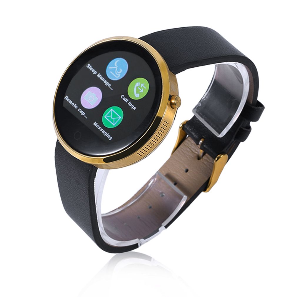 I6 Smart Watch Round Shape Smart Watch Bluetooth Heart Rate Monitor Alarm Clock PU Leather Smart Watch 1.22 Inch Screen цены