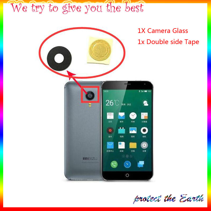 New Rear <font><b>Camera</b></font> Glass Lens For <font><b>Meizu</b></font> MX4 MX5 Pro 5 Pro 6 M2 M3 <font><b>M3s</b></font> M2 M5 M5s M6 Note M6S 16 16th Note 8 Replacement Part image