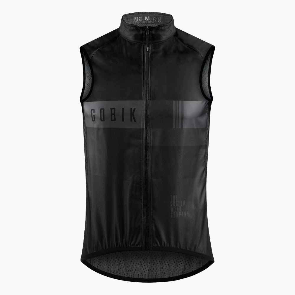 2018 All New Gobik PRO TEAM CYCLING WIND gilet Lightweight cycling vest easy to carry Windproof Gilet free shipping