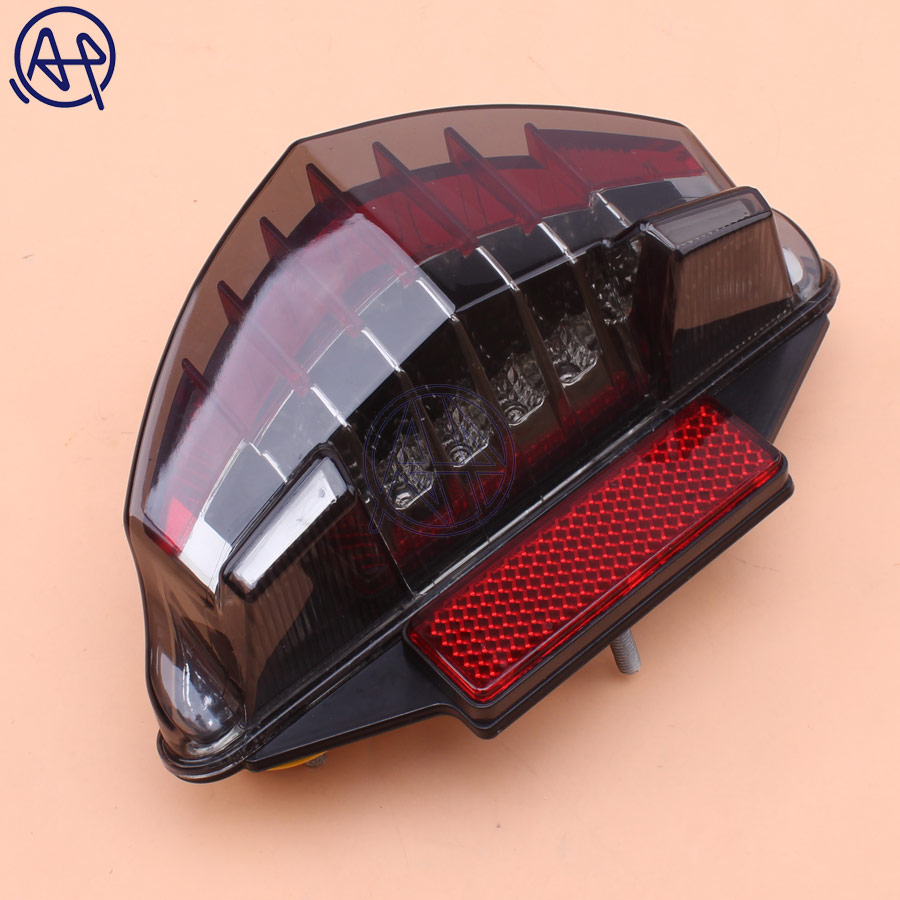 1pcs Motorcycle Smoke LENS Integrated LED Brake Stop Warning Tail Light+Turn Signals Light For BMW F650 GS R1200GS R1200 Honda Grom