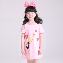 Girl Nightdress New 2018 summer Fashion Princess Cartoon Long Kids SleepDress Cotton Children Nightgowns Gift