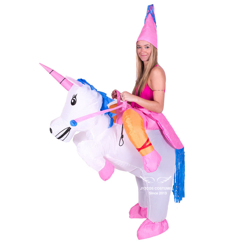 b678acf8bbc5 Inflatable Unicorn Costume Halloween Costumes for Women Men Kids Unisex  deguisement Clothing Unicorn Cosplay Costume Party Dress