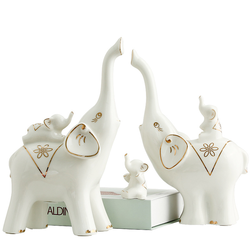 Elephant Party of Five Statue Abstraction Animal Ceramic Crafts Home Accessories Marry Gift L2937Elephant Party of Five Statue Abstraction Animal Ceramic Crafts Home Accessories Marry Gift L2937