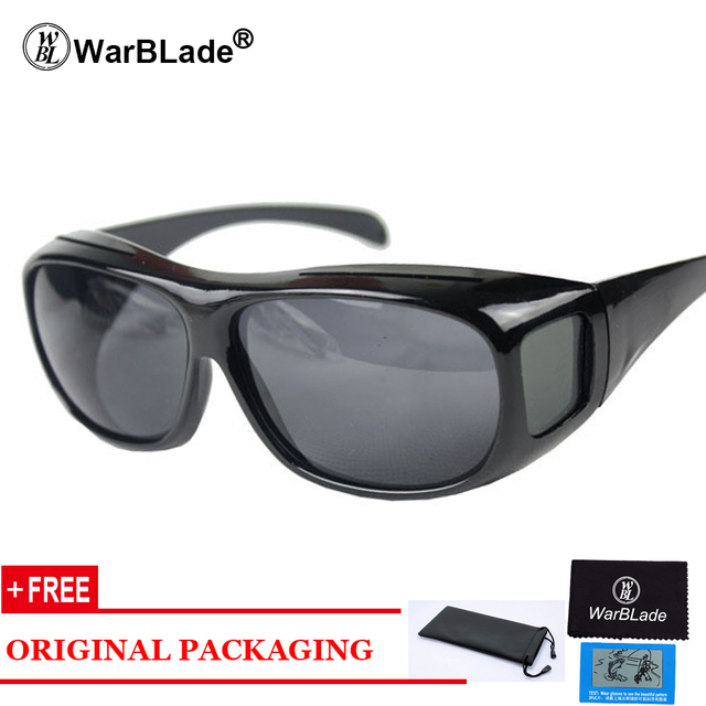 High-end Polarized Set of Glasses HD Vision Sunglasses Men Myopia Mirror Night Driving Sunglass Over Wrap Arounds Eyewear
