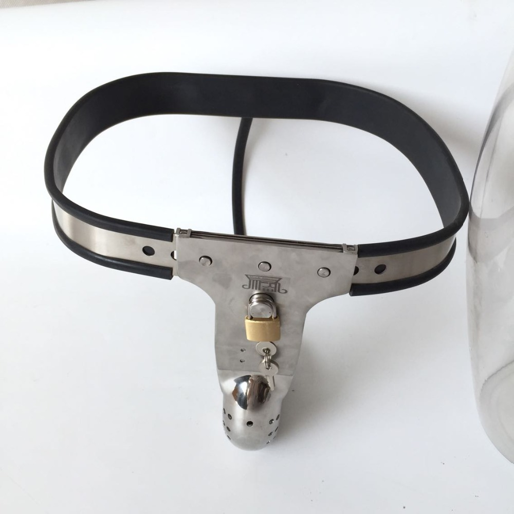 Men chastity belt T style chastity ring cock cage steel male chastity device penis cage male bondage adult sex toys for men remote control electric shock penis ring adult sex toys for men gay couples chastity cage belt cock ring cockring penis sleeve