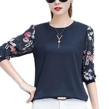 2018 New Autumn Women Blouse Patchwork Lace Long Sleeve White Women Blouse Tops Womens wear Casual Shirt Tops Blusas Feminine