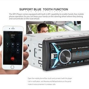 Image 5 - 1012 Kit de voiture sans fil multifonction Bluetooth véhicule lecteur MP3 U lecteur de disque 3.5mm AUX FM Radio Audio adaptateur chargeur de voiture