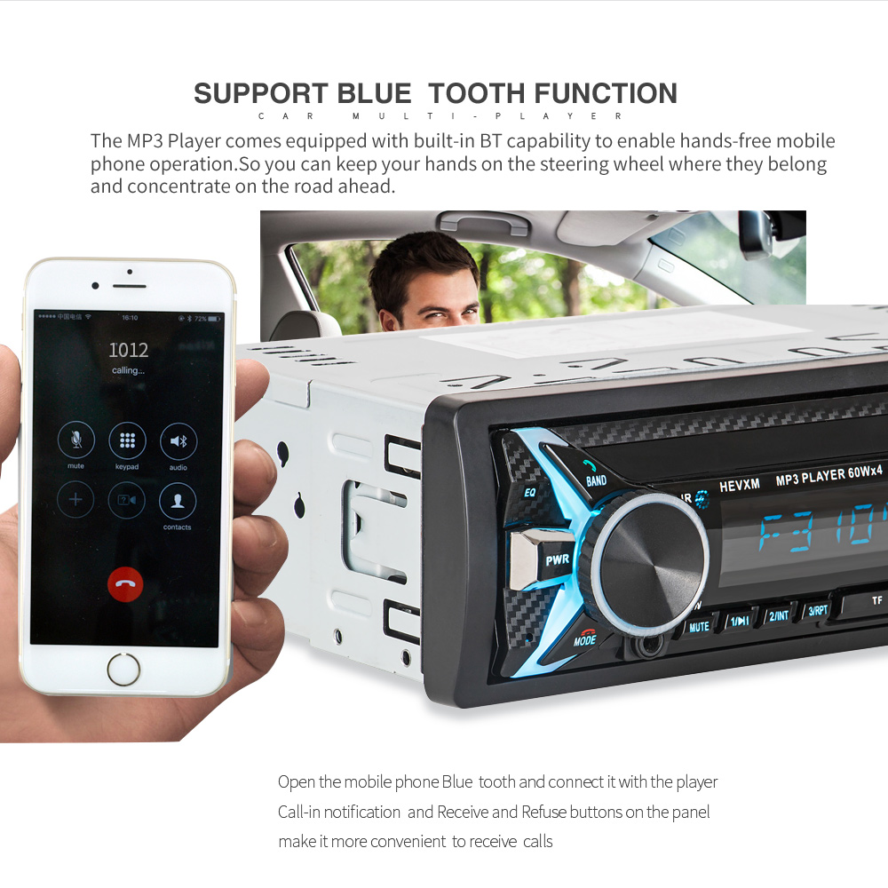 Image 5 - 1012 Wireless Car Kit Multifunction Bluetooth Vehicle MP3 Player U Disk player 3.5mm AUX FM Radio Audio Adapter Car charger-in Car MP3 Players from Automobiles & Motorcycles