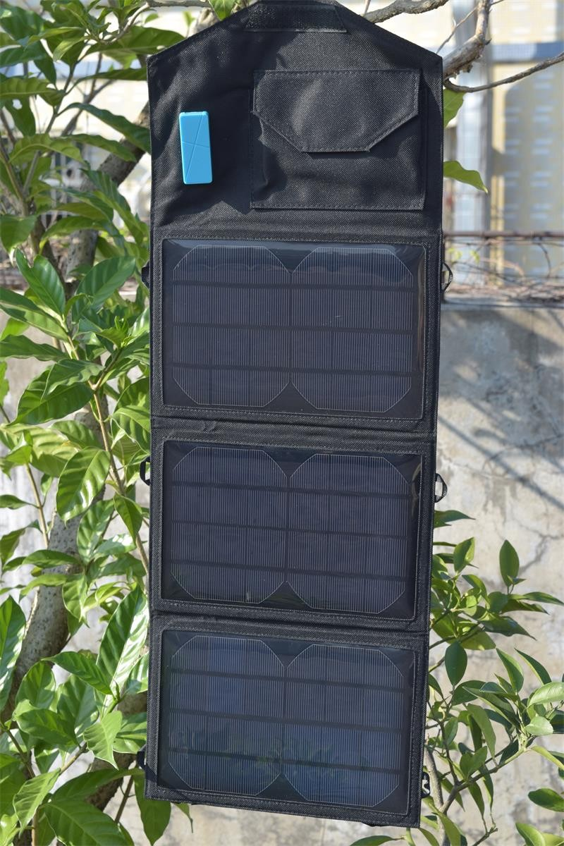 Xingpuguang 8W 5V solar panel charger 3 Folds black light Portable durable Solar battery for USB Power Bank Solar cells