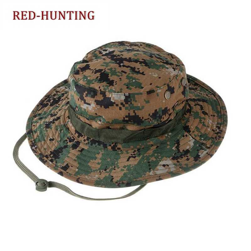e7ae2ed6df0 ... Tactical Airsoft Sniper Camouflage Boonie Hats Nepalese Cap Militares  Army American Military Accessories Hiking A- ...