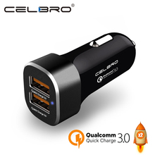 Qualcomm Quick Charge 3.0 Car Charger Dual Usb 2 Port Qc 3.0 Car-Charger 36w Rapid Fast Charging Mobile Phone Tablet Pc Adapter