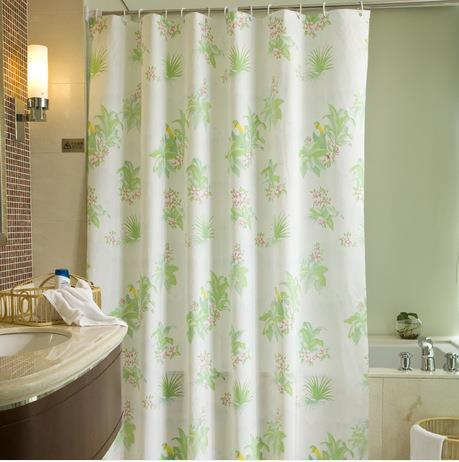 Fashion Floral Print Bath Curtain Thickening Shower Curtains 180200cm Waterproof Mouldproof PVC