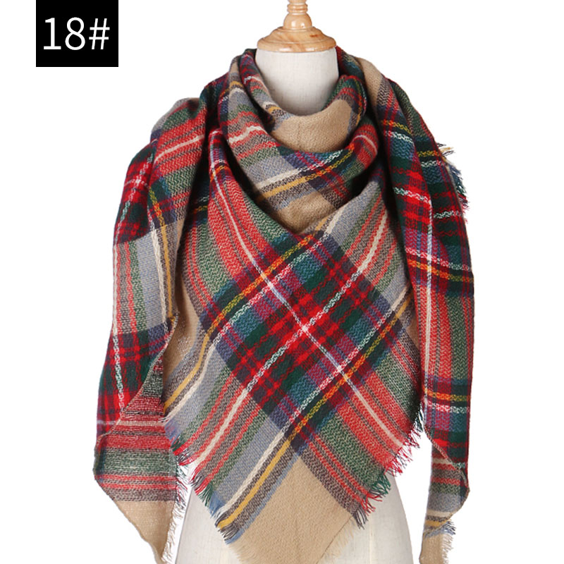 Hot 2019 New Spring Winter Women Scarf Plaid Warm Cashmere Scarves Shawls And Pashmina Lady Bandana Wraps