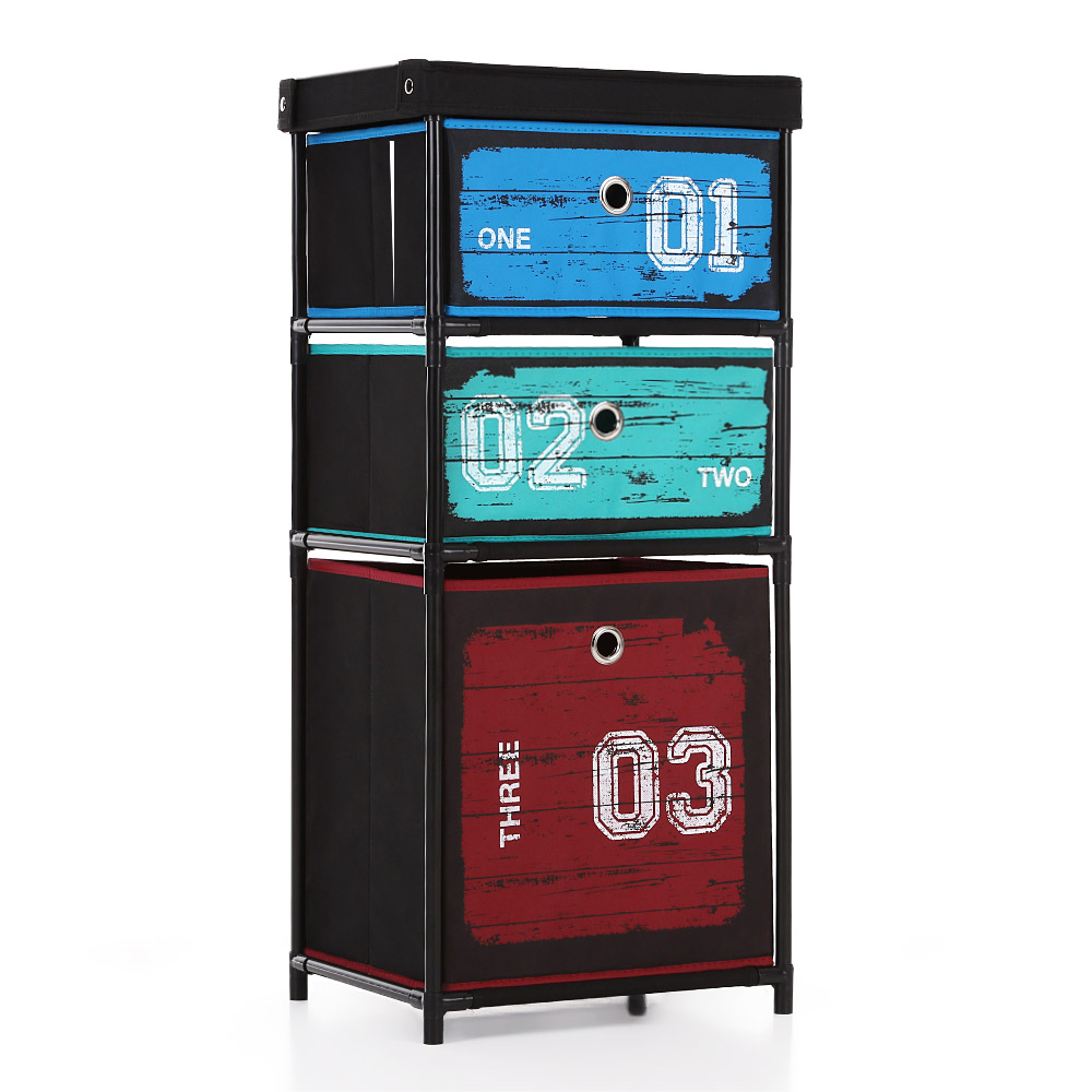 ikayaa wardrobe organizer closet storge box 3 drawer home. Black Bedroom Furniture Sets. Home Design Ideas