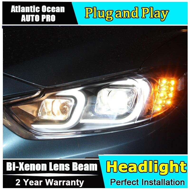 2014 2016 Car Styling for Mazda 6 Atenza LED Headlight for Mazda 6 Headlights DRL Lens Double Beam HID KIT Xenon bi xenon lens