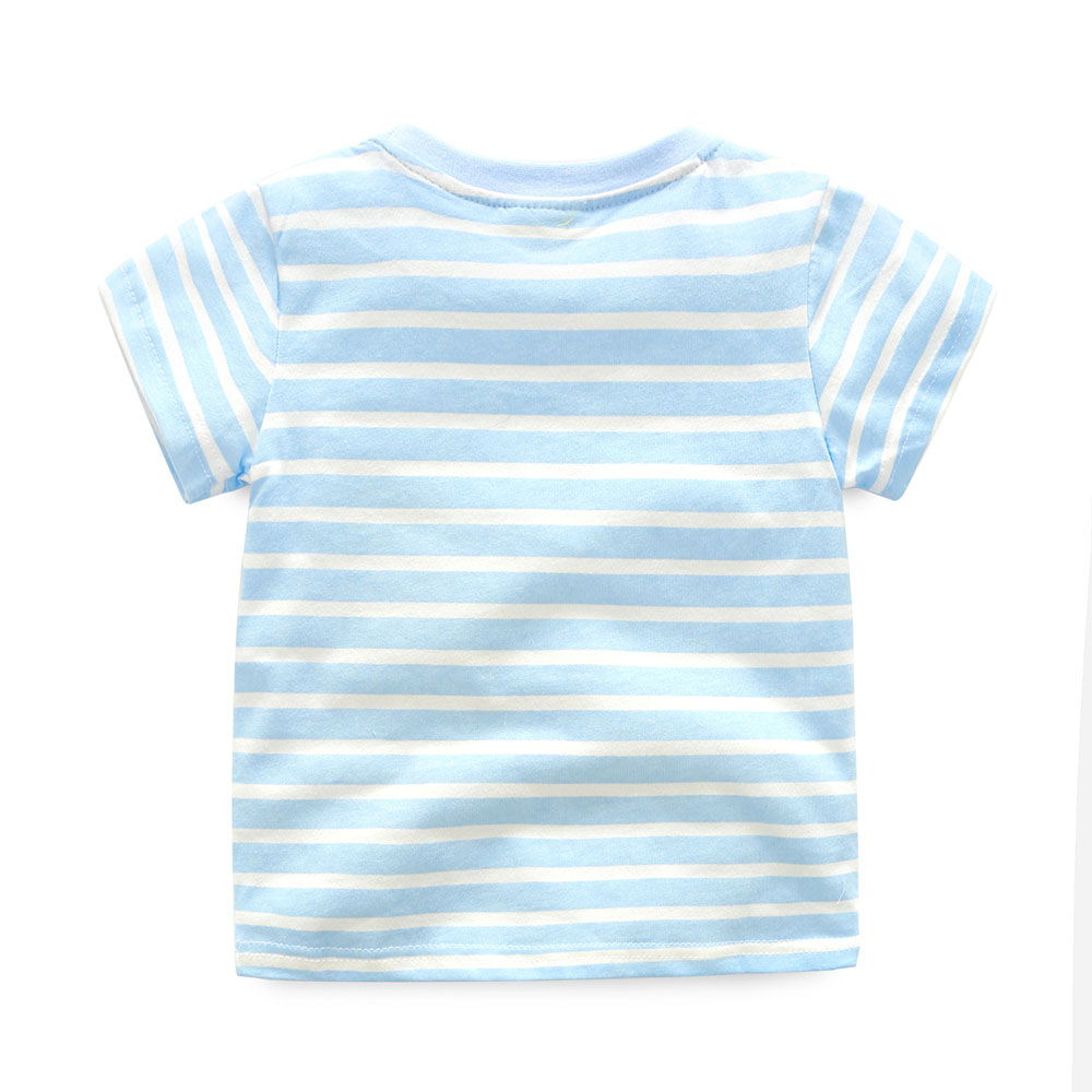 HTB1eM.mQFXXXXceXXXXq6xXFXXX5 - 2017 New Brand top quality kids clothing summer boys short sleeve O-neck t shirt Cotton embroidery cartoon striped tee tops