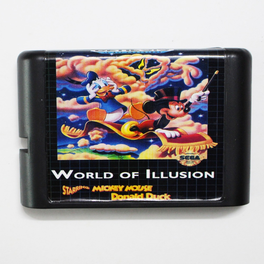 World Of Illusion Starring Mickey Mouse & Donlad Duck 16 bit MD Game Card For Sega Mega Drive For Genesis