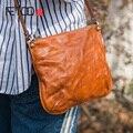 Маленькая сумка-конверт AETOO из воловьей кожи  женская кожаная сумка на плечо в стиле ретро
