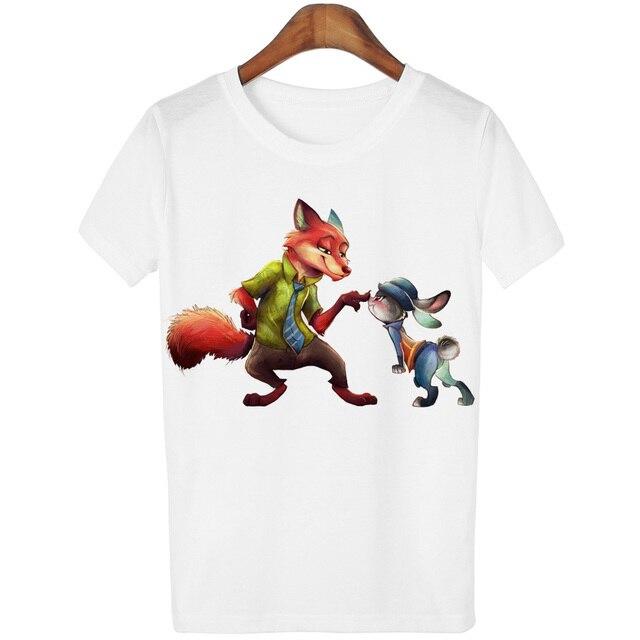 Yemeed Quente Dos Desenhos Animados Impresso Animal T Camisas Das