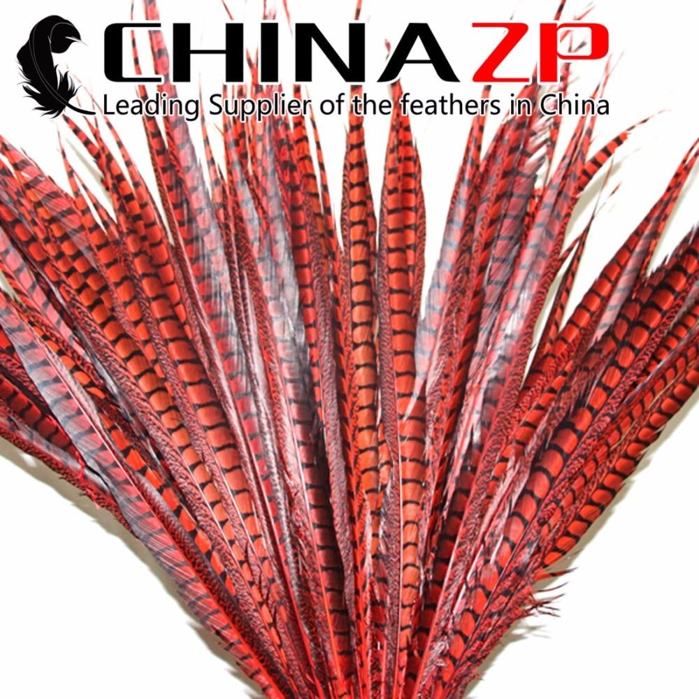 Plumes de CHINAZP 70 ~ 80 cm (28 ~ 32 pouces) plumes de queue de faisan Amherst teintées uniques
