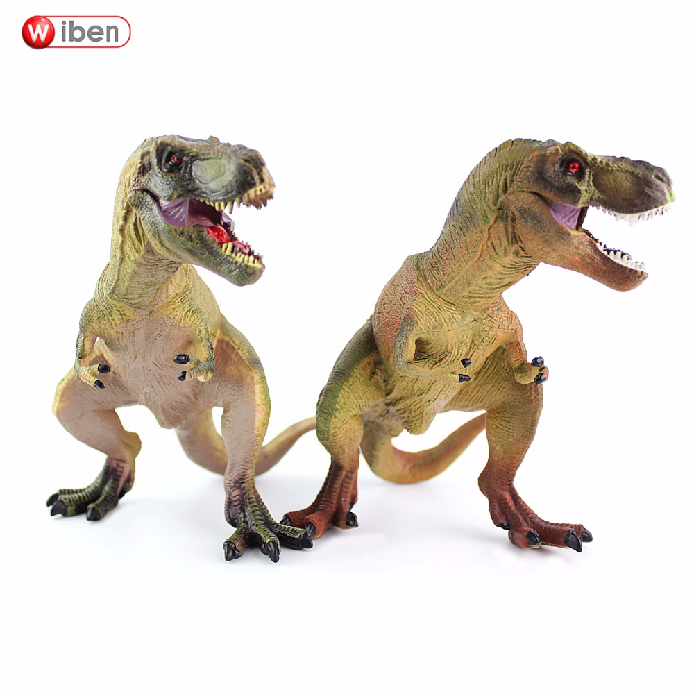 Wiben Jurassic Tyrannosaurus Rex T-Rex Dinosaur Toys Action & Toy Figures Animal Model Collection Children Toy Gifts wiben 3pcs jurassic triceratops tyrannosaurus rex parasaurolophus cub model dinosaur toys action toy figures collection gift