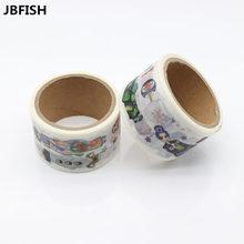 JBFISH Japanese Paper Washi tapes Cartoon Girls Rose Flowers Decorative Adhesive Tapes Masking Tape Stickers 9006