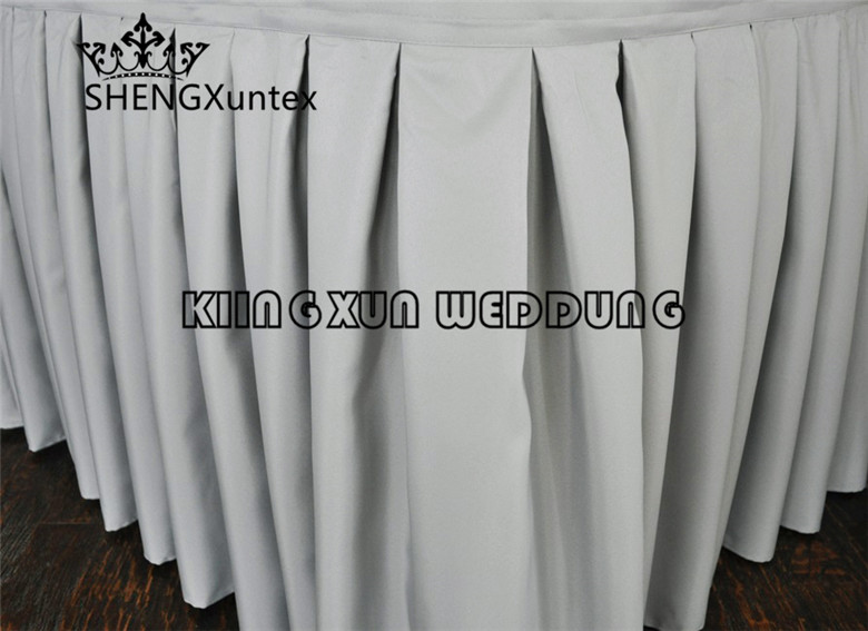 Wholesale Price 200gsm 100 Poly Table Skirt Wedding Table