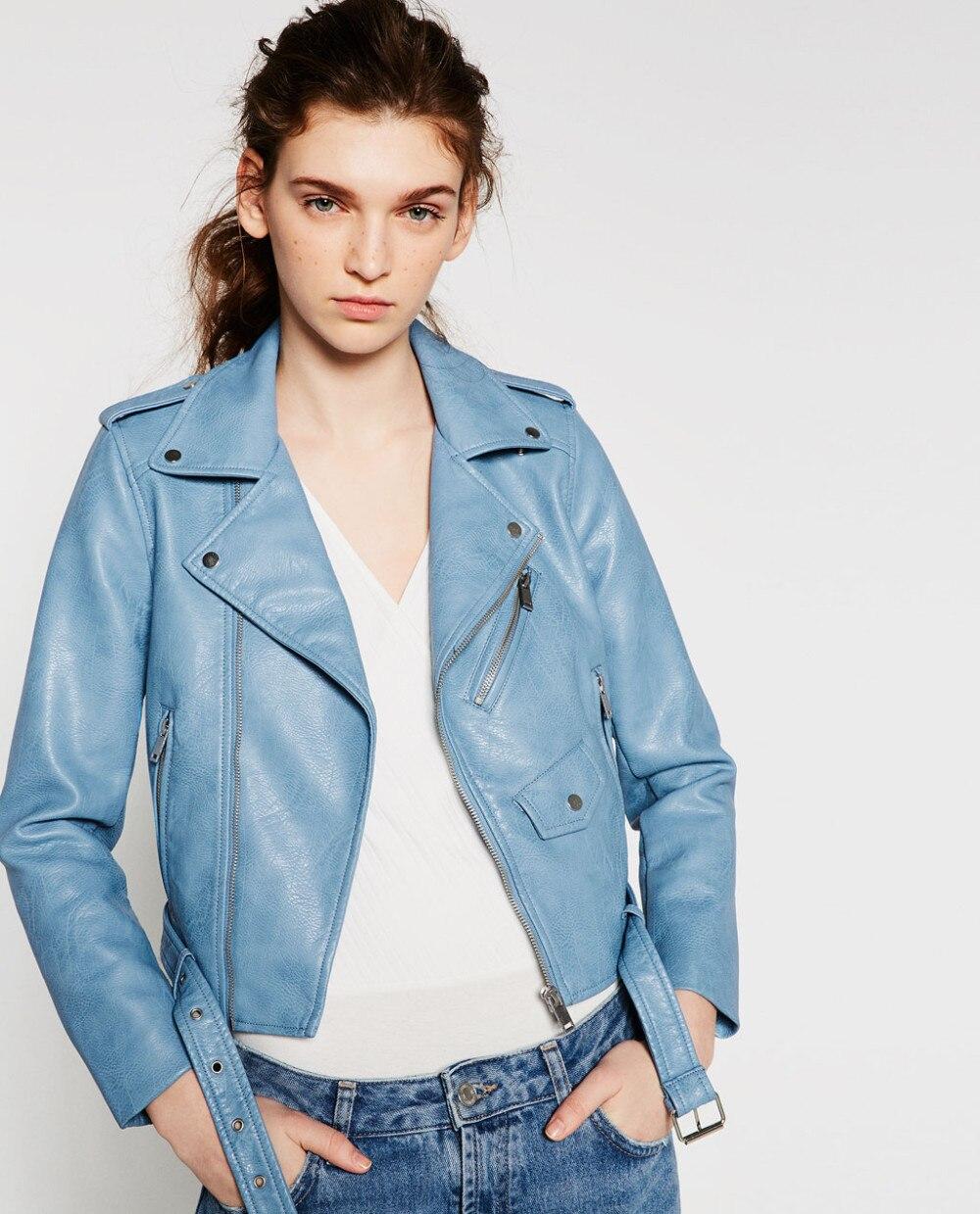 Vrouwen Leren Jas 2018 Nieuwe Mode HerfstWinter vrouwen