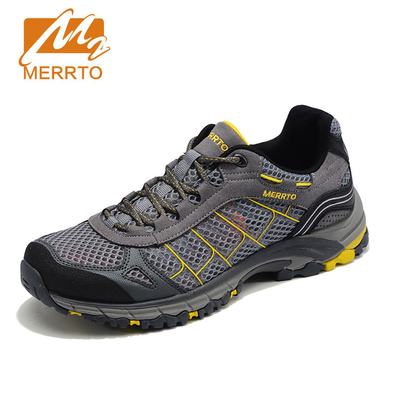 2017 Merrto Men Walking Shoes Breathable Sneaker Lightweight Outdoor Trekking Shoes For Men Breathable Air Mensh Hiking Shoes