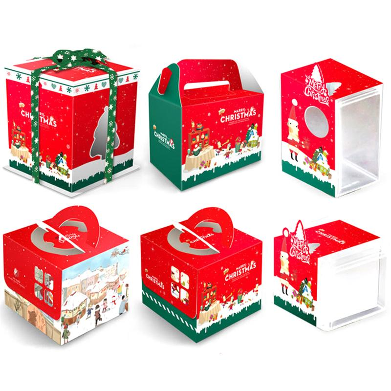 Christmas Gift Box.Us 3 45 26 Off Portable Christmas Gift Box Xmas Party Supplies Baking Candy Carry Boxes Christmas Tree Decoration Big Gingerbread House In Gift Bags