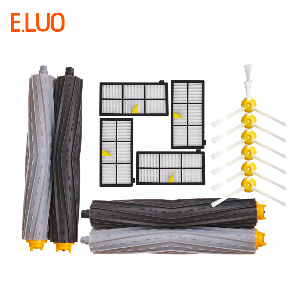 E.LUO HEPA Filter, Brush Replacement Parts Kit for iRobot Roomba 800 865 866 870 886 896 900 980 990 Accessories KitE.LUO HEPA Filter, Brush Replacement Parts Kit for iRobot Roomba 800 865 866 870 886 896 900 980 990 Accessories Kit