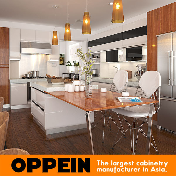 White Lacquered Kitchen Cabinetry: White European Style Modern Lacquer Ready Made Kitchen