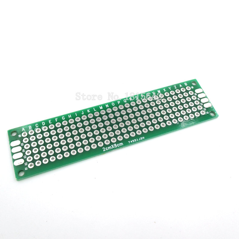 5PCS/Lot 2*8CM Double Side Prototype PCB Diy Universal Printed Circuit Board 2x8cm