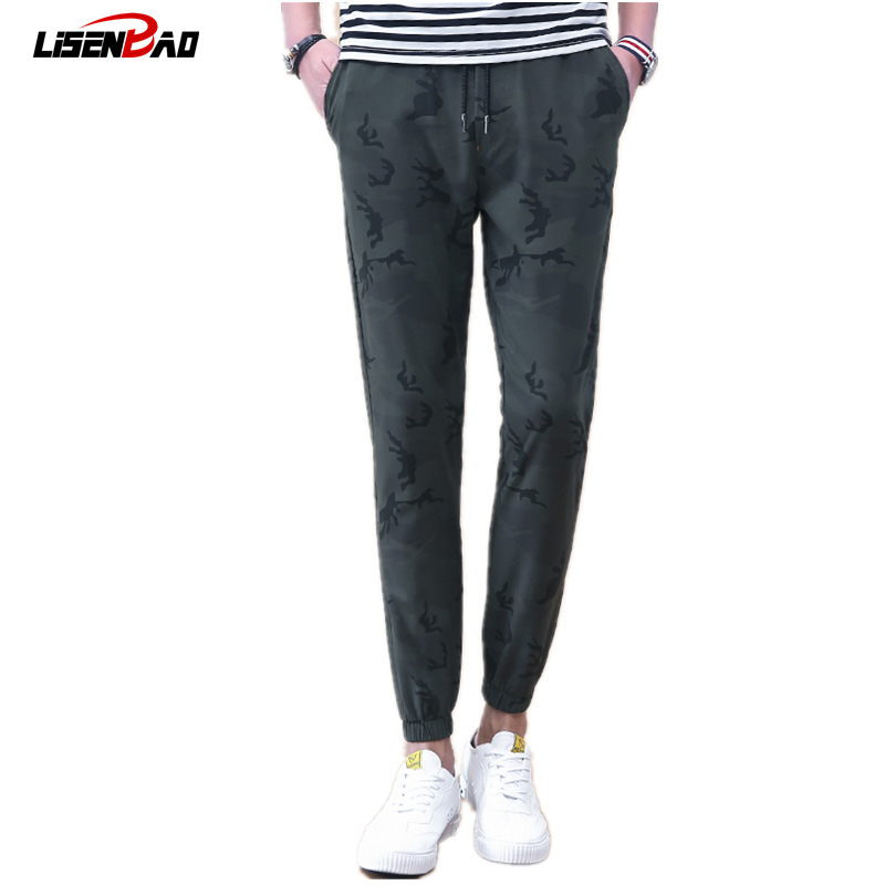 LiSENBAO 2017 New Spring men brand clothing military mens joggers men Casual trousers fashion camouflage sweat pants 9820