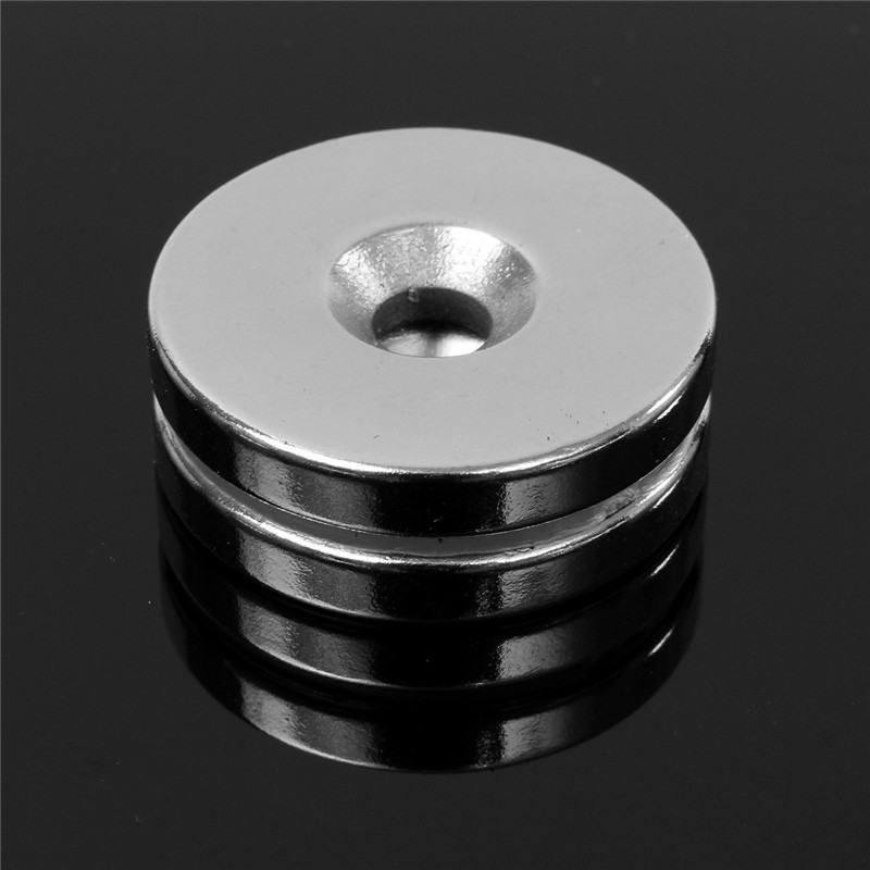 2pcs 30 x 5mm Hole 5mm N35 Round Countesunk Magnets Rare Earth Neodymium Magnets Strong Disc