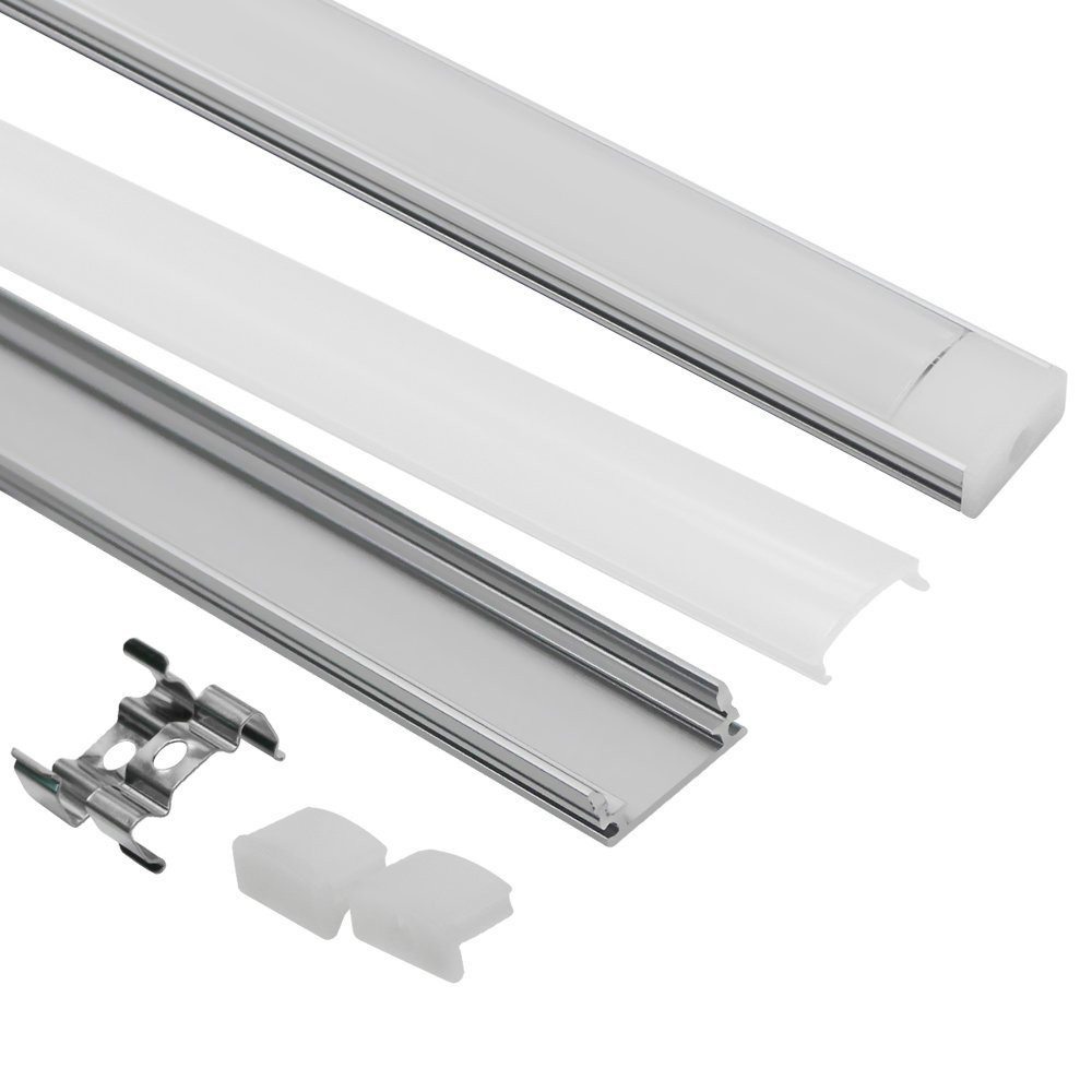 10/12/15/18/20/50 pièces DHL 1m LED profilé en aluminium de bande pour 5050 5630 LED disco lumière de barre de barre de LED canal en aluminium avec couvercle