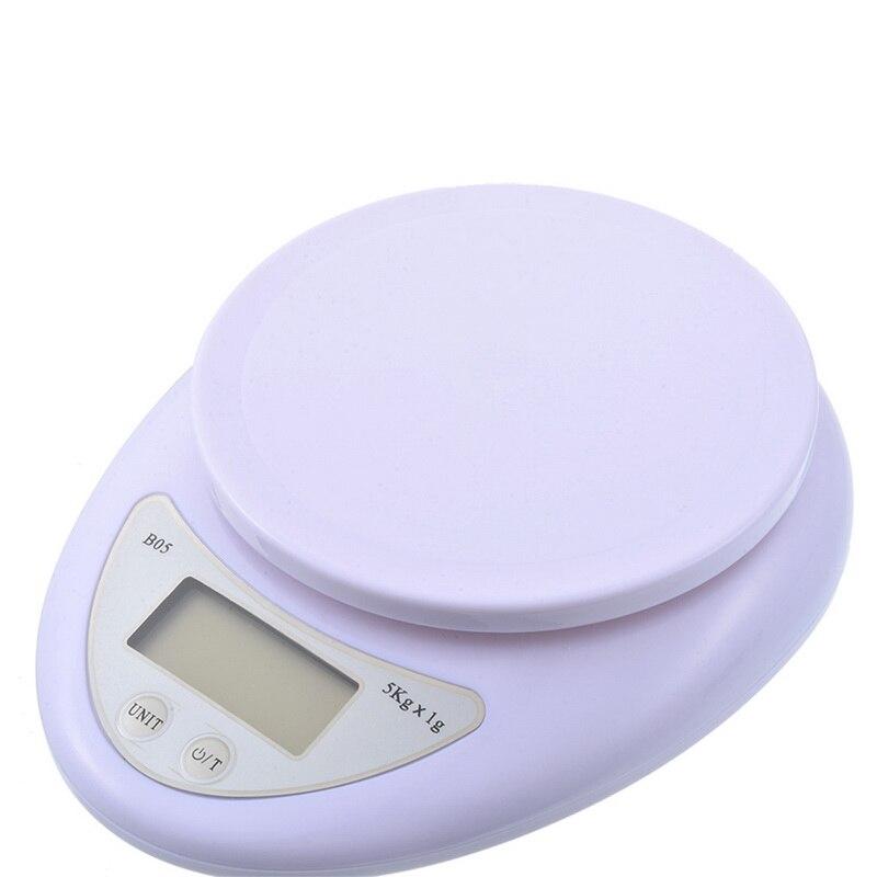 Портативные цифровые весы 5 кг/1 г, пищевые, диетические, кухонные, светодиодный электронный измерительные весы, кухонные весы для выпечки и приготовления пищи-0