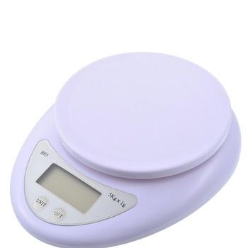 Портативные цифровые весы 5 кг/1 г, пищевые, диетические, кухонные, светодиодный электронный измерительные весы, кухонные весы для выпечки и приготовления пищи