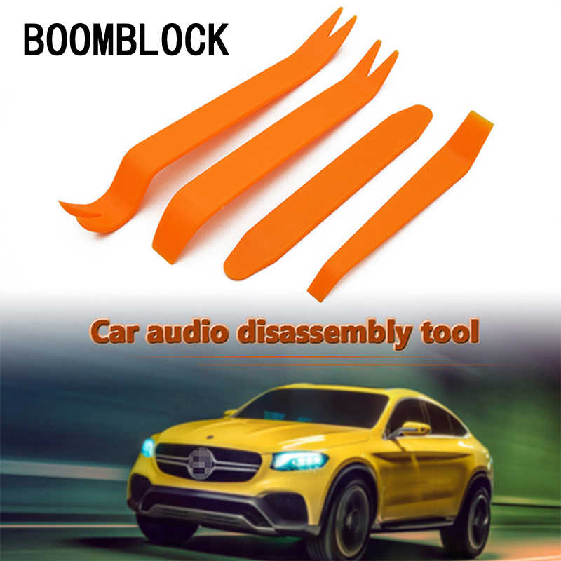 4x אוטומטי רכב אודיו צופר רמקול דלת הסרת כלים עבור שברולט Cruze Aveo פיג 'ו 307 308 5008 מושב ליאון מאזדה 3 6 CX-5 CX3